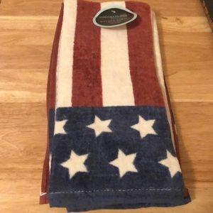 Cynthia Crowley Patriotic Kitchen Towel Set Of 2